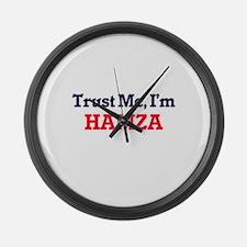 Trust Me, I'm Hamza Large Wall Clock