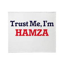 Trust Me, I'm Hamza Throw Blanket