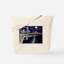 Moon Over Minneapolis Tote Bag