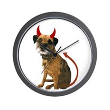 Cool Border terrier Wall Clock