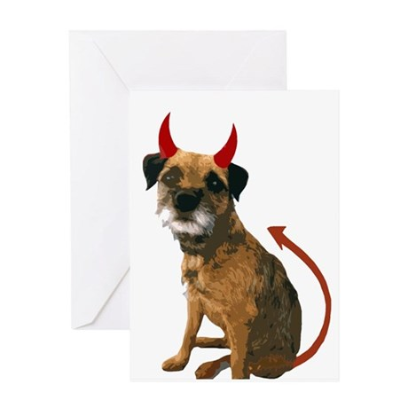 tony devil halloween 2 Greeting Cards