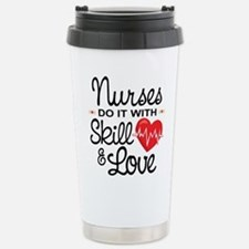 Funny Nurse Stainless Steel Travel Mug