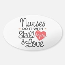 Funny Nurse Sticker (Oval)