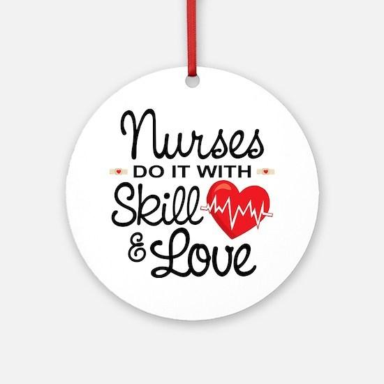 Funny Nurse Round Ornament