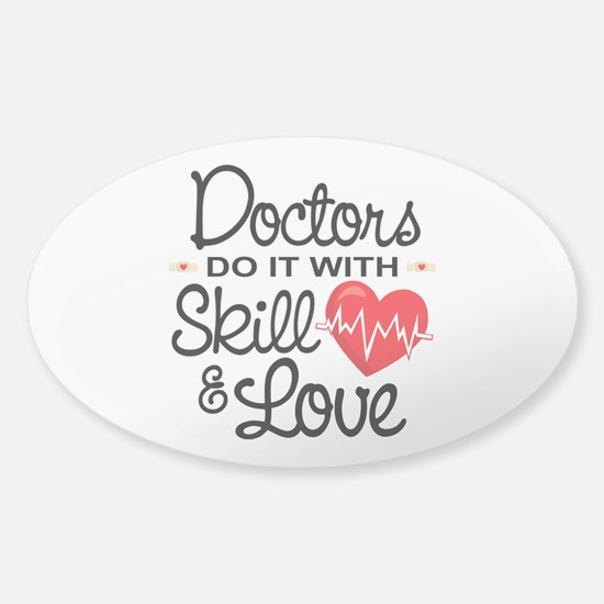 Funny Doctor Sticker (Oval)