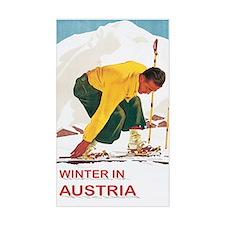 Ski Austria Vintage Rectangle Decal