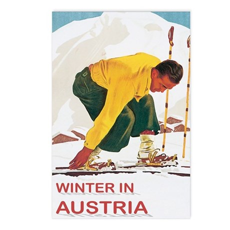 Ski Austria Vintage Postcards (Package of 8)