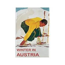 Ski Austria Vintage Rectangle Magnet