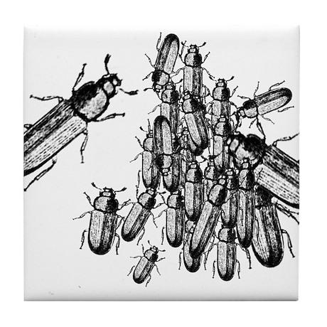Pile o' Beetles Tile Coaster