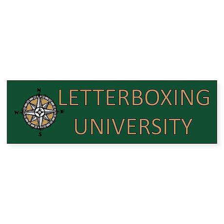 Letterboxing University Bumper Sticker