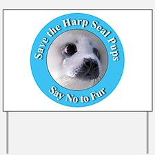 Anti-Fur Harp Seal Pup Yard Sign