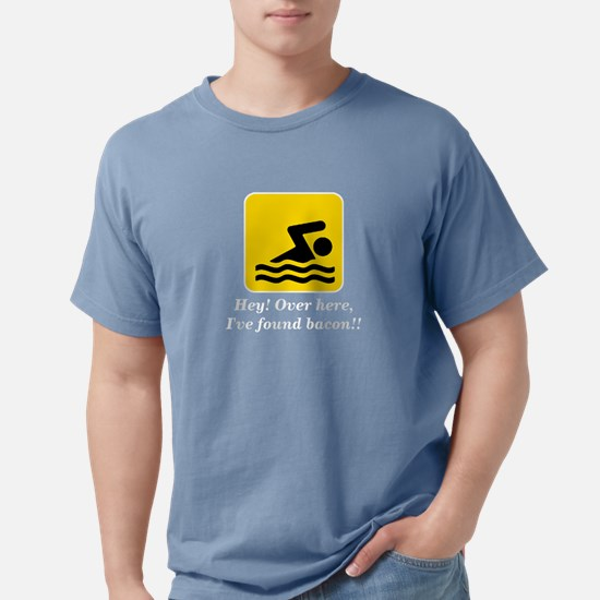 Hey I've Found Bacon Funny Swimming Sign T-Shirt