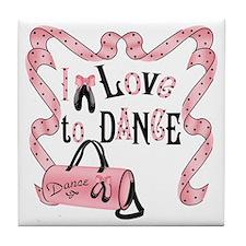 I Love to Dance Tile Coaster