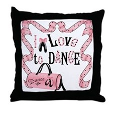 I Love to Dance Throw Pillow