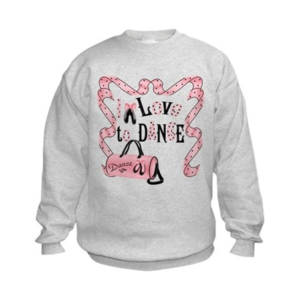 CafePress I Love to Dance Kids Sweatshirt