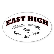 East High Oval Decal