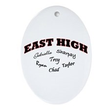 East High Oval Ornament