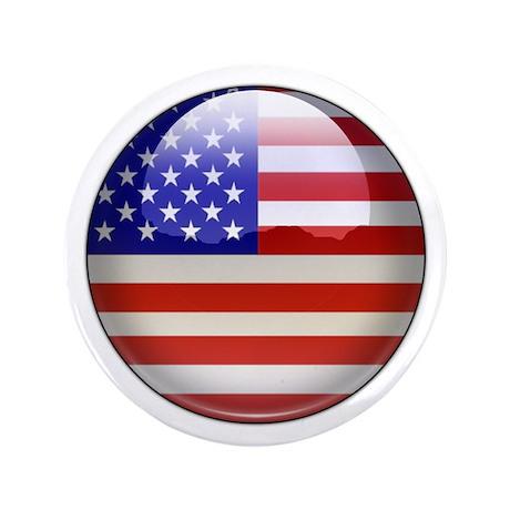 "USA Flag Jewel 3.5"" Button (100 pack)"