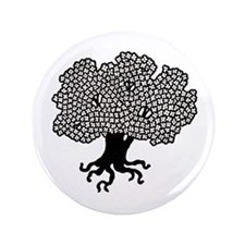 """""""Tree with Roots"""" 3.5"""" Button"""
