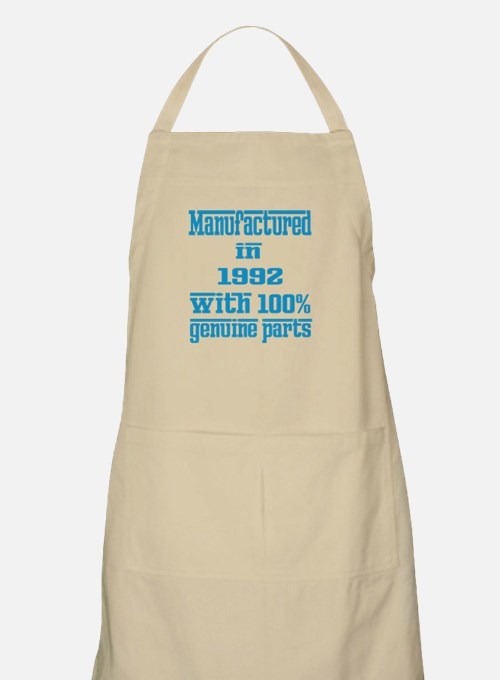 Manufactured in 1992 with 100% Genuine parts Apron