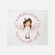 Pediatric Nurse Throw Blanket