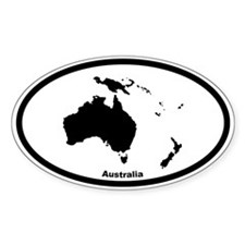 Australia Outline Oval Stickers