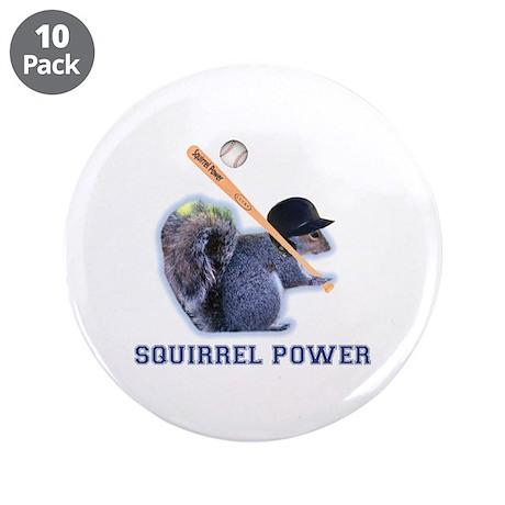 "Squirrel Power 3.5"" Button (10 pack)"