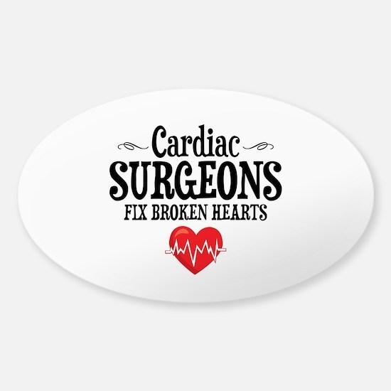 Cardiac Surgeon Sticker (Oval)