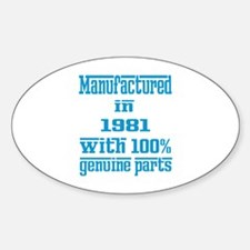 Manufactured in 1981 with 100% Genu Sticker (Oval)