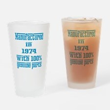 Manufactured in 1974 with 100% Genu Drinking Glass