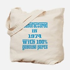 Manufactured in 1974 with 100% Genuine pa Tote Bag