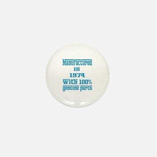 Manufactured in 1974 with 100% Genuine Mini Button