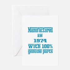 Manufactured in 1974 with 100% Genui Greeting Card