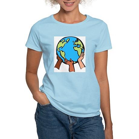 World In our Hands Women's Light T-Shirt