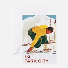 Ski Park City UT Greeting Card