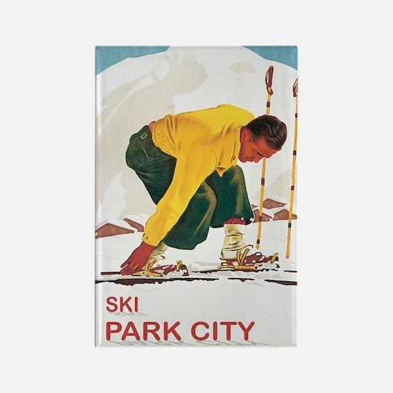 Ski Park City UT Rectangle Magnet