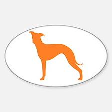 Greyhound Two Orange 1C Decal