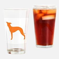 Greyhound Two Orange 1C Drinking Glass