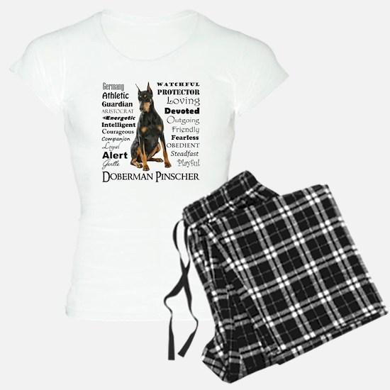 Doberman Traits Pajamas