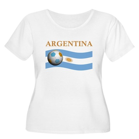 TEAM ARGENTINA SOCCER Women's Plus Size Scoop Neck
