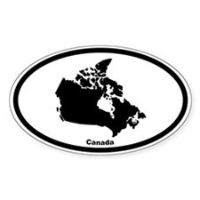Canada Outline Oval Decal