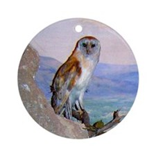 barn owl 3 Ornament (Round)