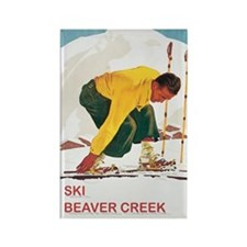 Ski Beaver Creek Rectangle Magnet