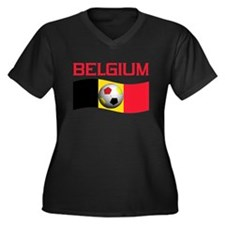 TEAM BELGIUM WORLD CUP SOCCER Women's Plus Size V-