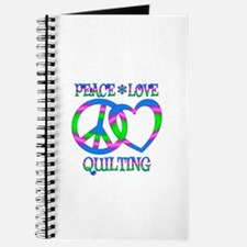 Peace Love Quilting Journal