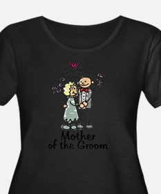 Cartoon Groom's Mother Plus Size T-Shirt