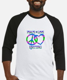 Peace Love Knitting Baseball Jersey