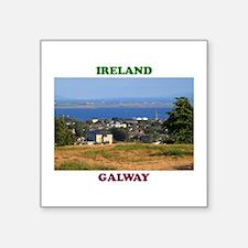 "Circular Road, Galway Bay Square Sticker 3"" x 3"""