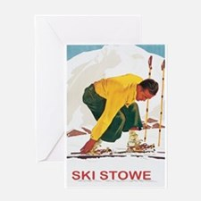 Ski Stowe Vermont Greeting Card