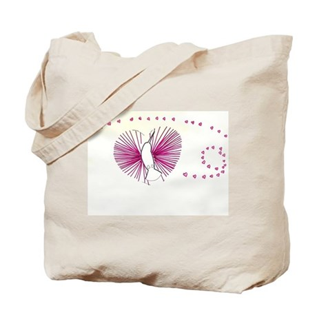 Hummingbird heart Tote Bag